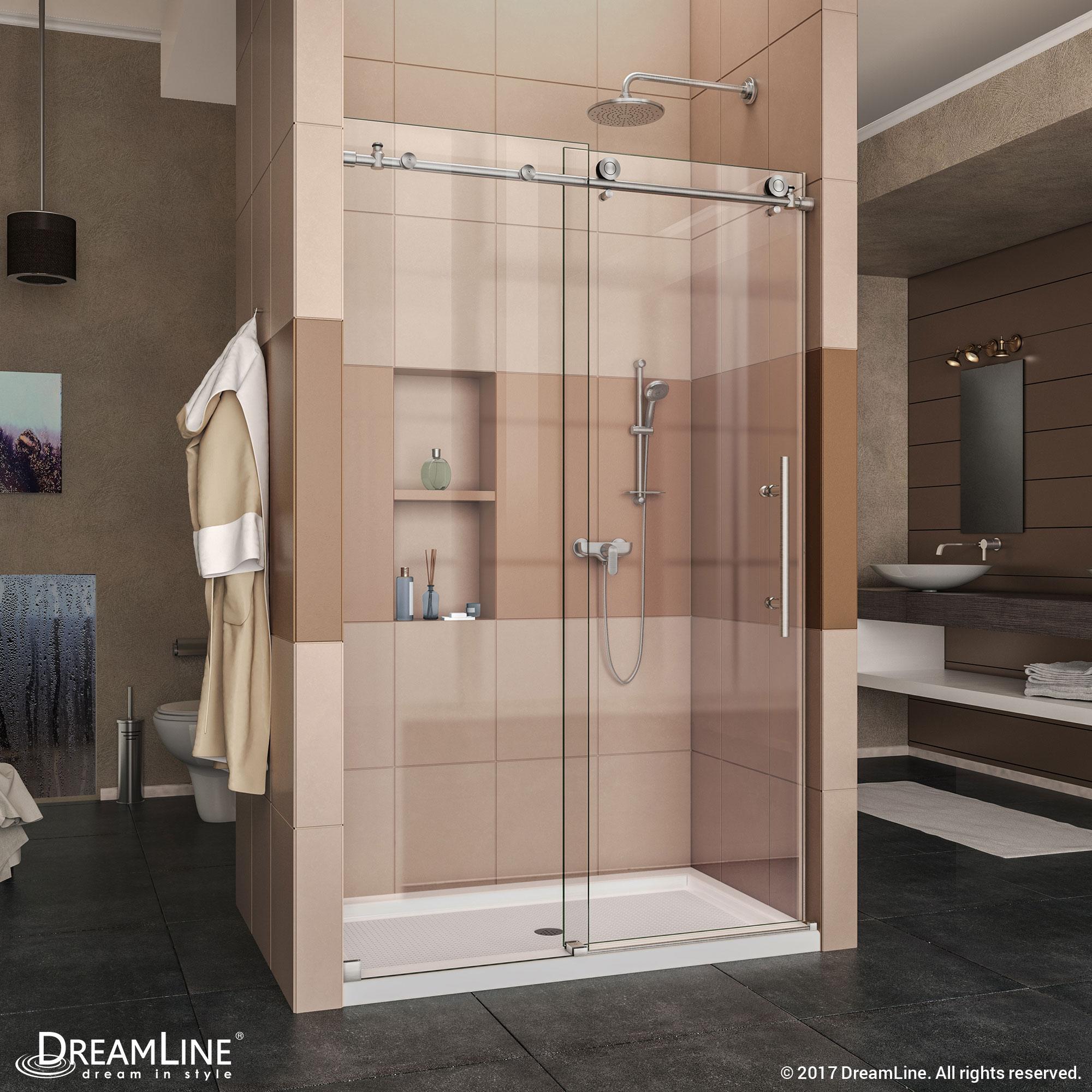 Enigma-X Sliding Shower Door & Base (34 - 36 in.) - ACTT Kitchen & Bath