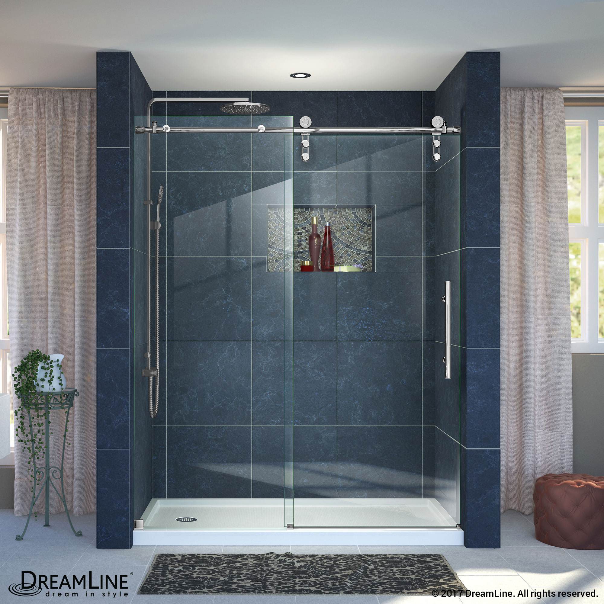 Enigma-Z Sliding Shower Door & Base (34 - 36 in.) - ACTT Kitchen & Bath