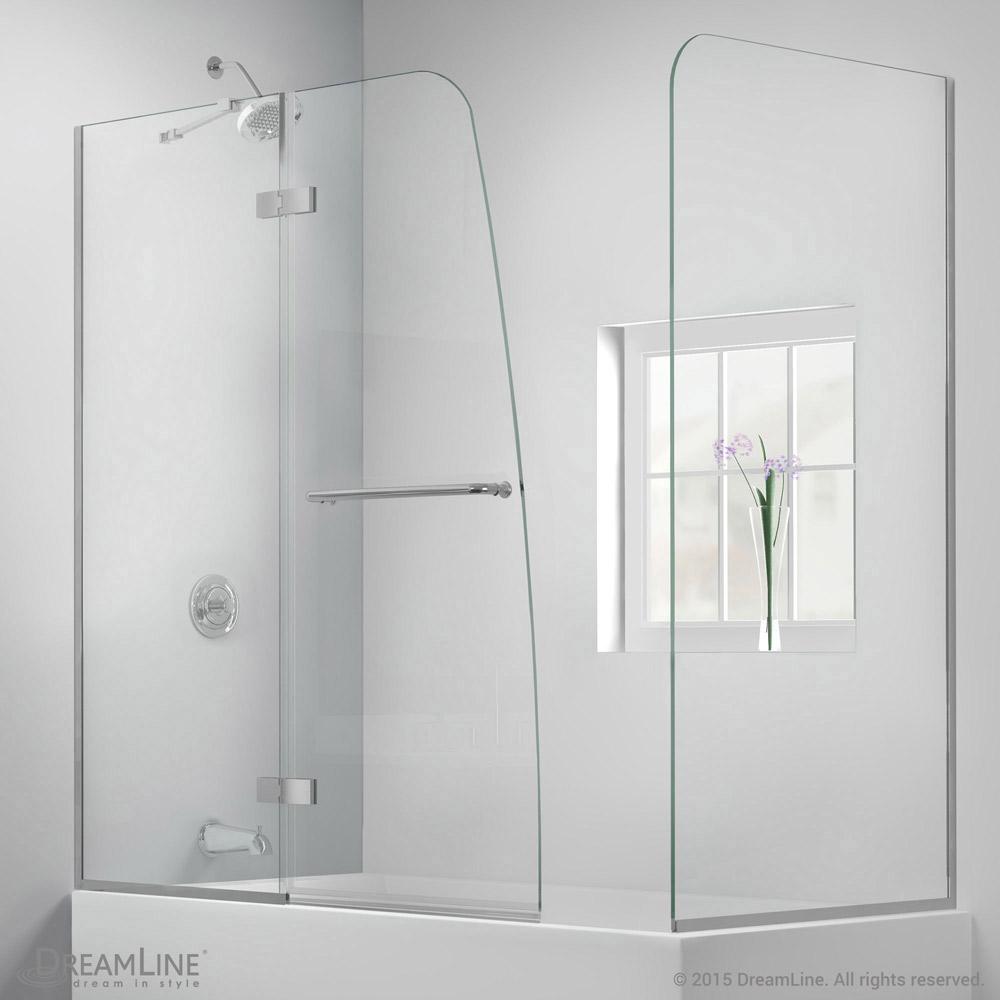 Aqua Ultra Hinged Tub Door with Return Panel - ACTT Kitchen & Bath