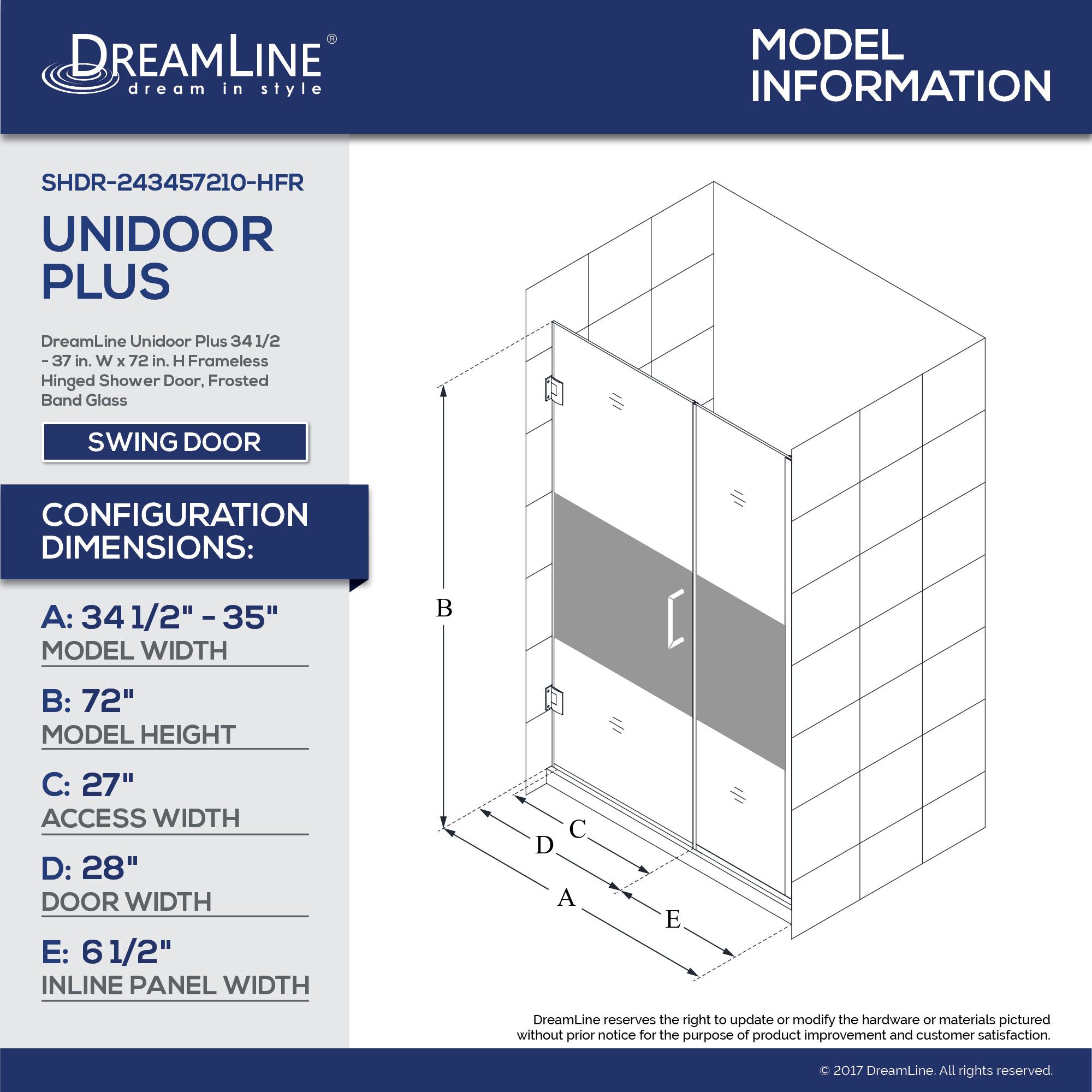 Unidoor Plus Shower Door